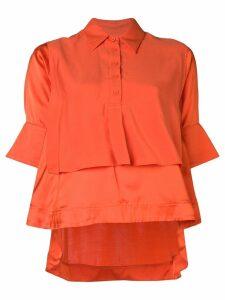 Carven double layer blouse - ORANGE
