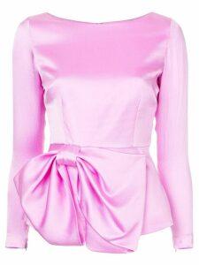 Safiyaa London bow ribbon blouse - Pink