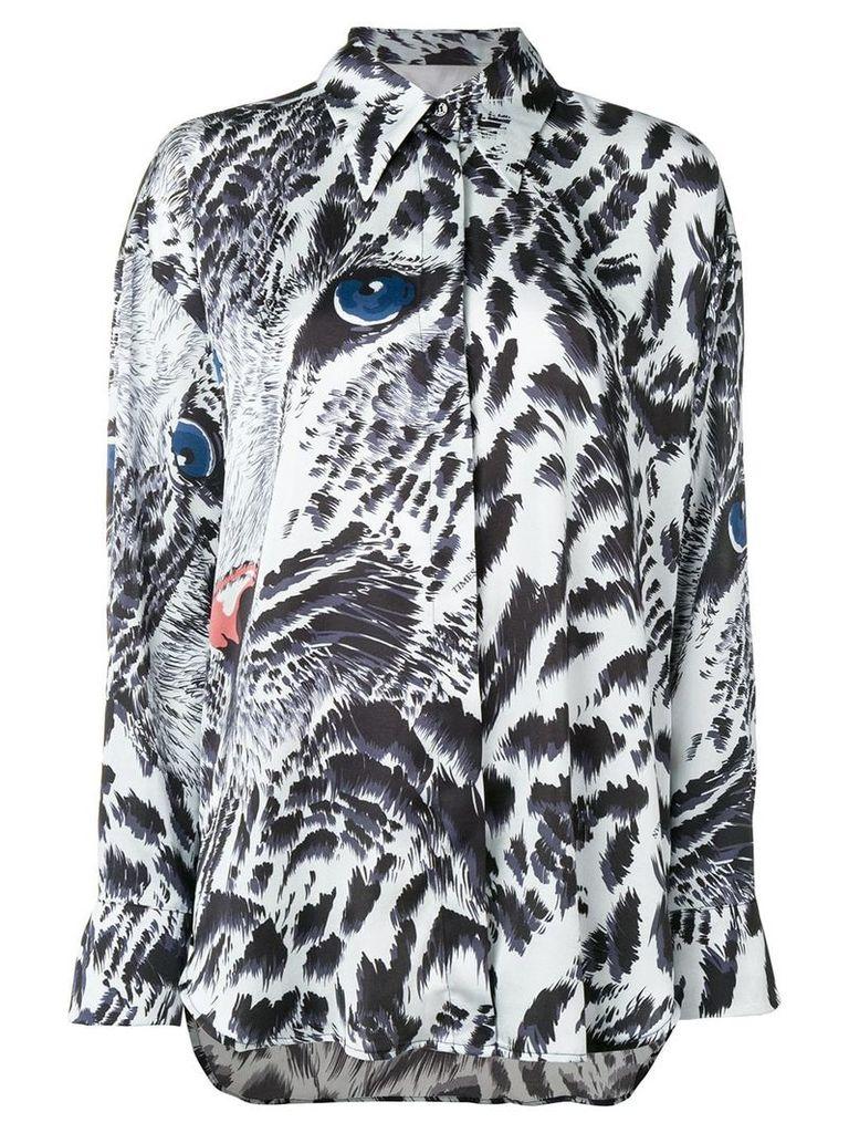 MSGM leopard print shirt - Blue