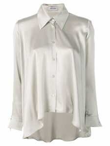 Balossa White Shirt asymmetric silk shirt - Grey