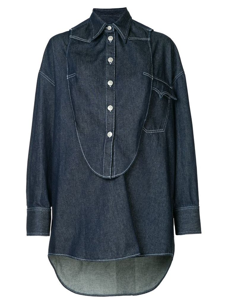 Mm6 Maison Margiela oversized shirt - Blue