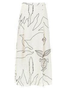 Alcaçuz Ferrugem printed skirt - White