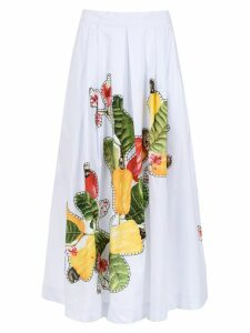Isolda Rio flared skirt - White