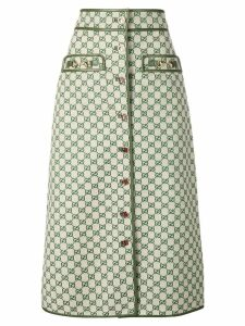 Gucci GG A-line skirt - Neutrals