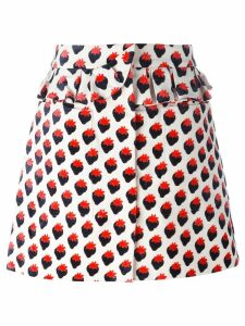 Victoria Victoria Beckham 'Plush Jacquard' skirt - Red