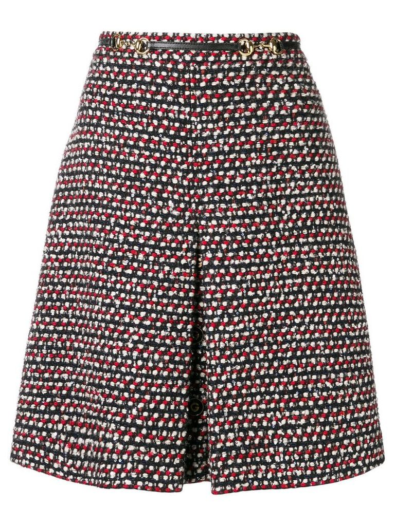 Gucci high-waisted A-line skirt - Black