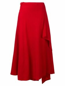 Yohji Yamamoto wrap around skirt - Red