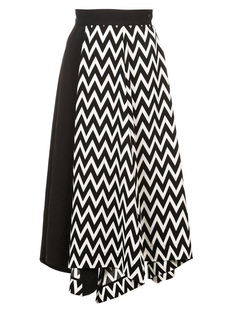 Loewe Asymmetric Herringbone skirt - Black