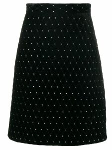 Gucci diamond quilted skirt - Black