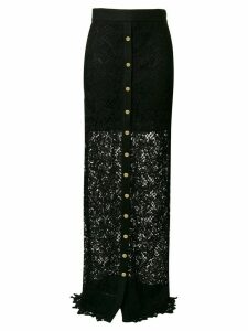 Fausto Puglisi long lace skirt - Black