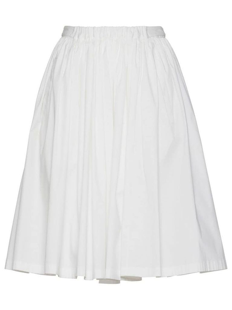 Prada Stretch cotton circle skirt - White