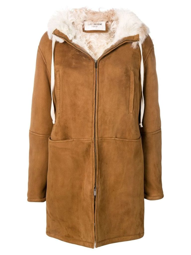Saint Laurent parka coat - Brown
