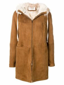 Saint Laurent parka coat - Brown