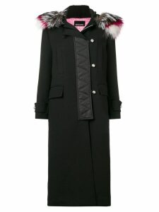 Ermanno Ermanno zipped up long coat - Black