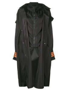 Off-White oversized hood coat - Black