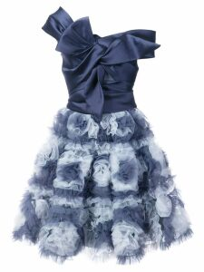Marchesa Notte floral skirt flared dress - Blue