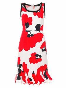 Reinaldo Lourenço printed pleated dress - Red
