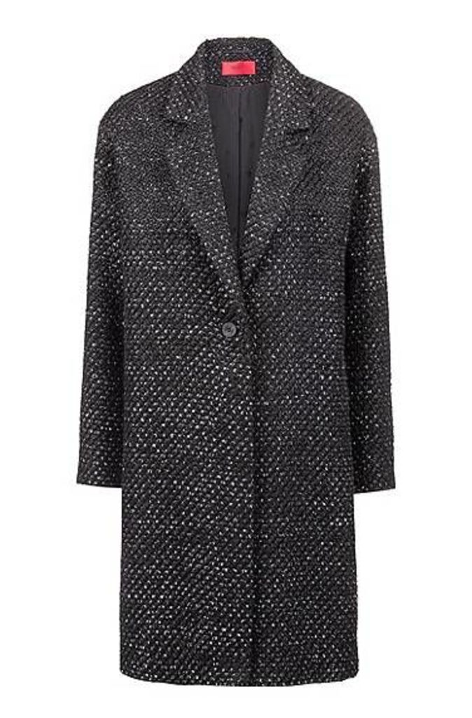 Relaxed-fit coat with bubble structure and full lining