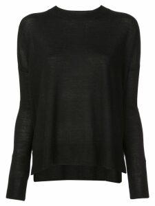 Derek Lam 10 Crosby Boxy Crewneck Sweater - Black