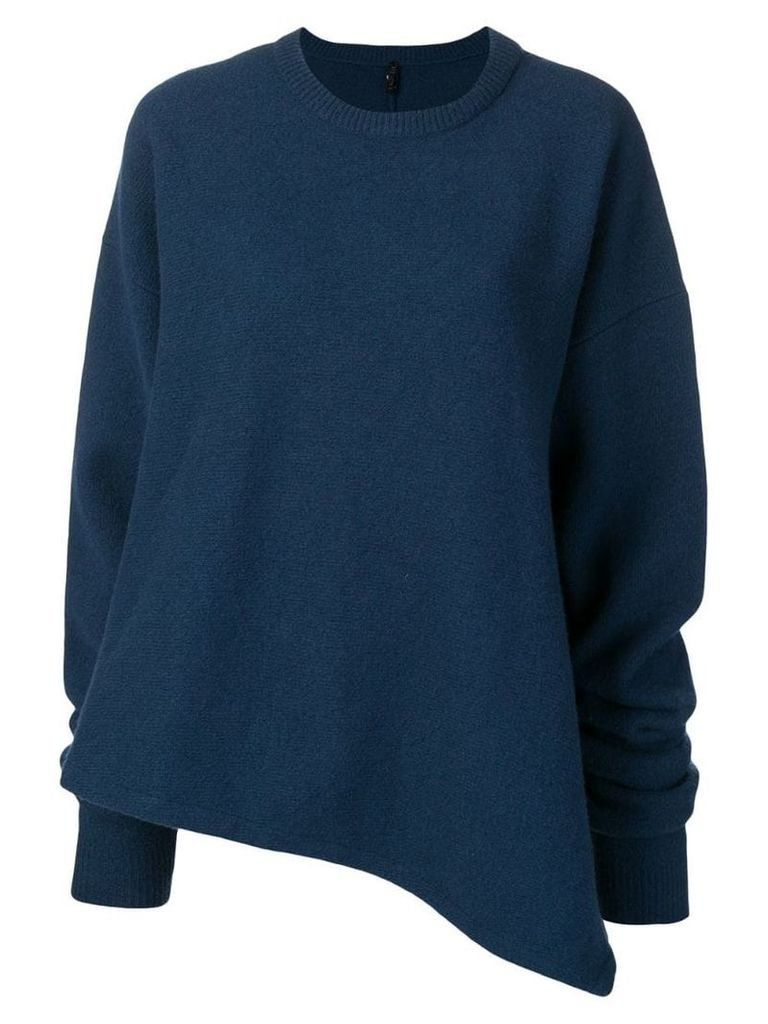 Unravel Project asymmetric knitted jumper - Blue