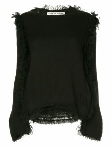 Comme Des Garçons distressed loose sweater - Black