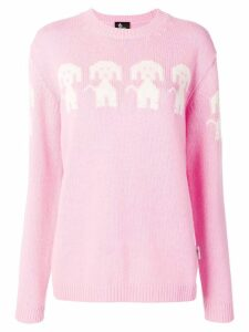 Moncler Grenoble dog embroidered sweater - Pink