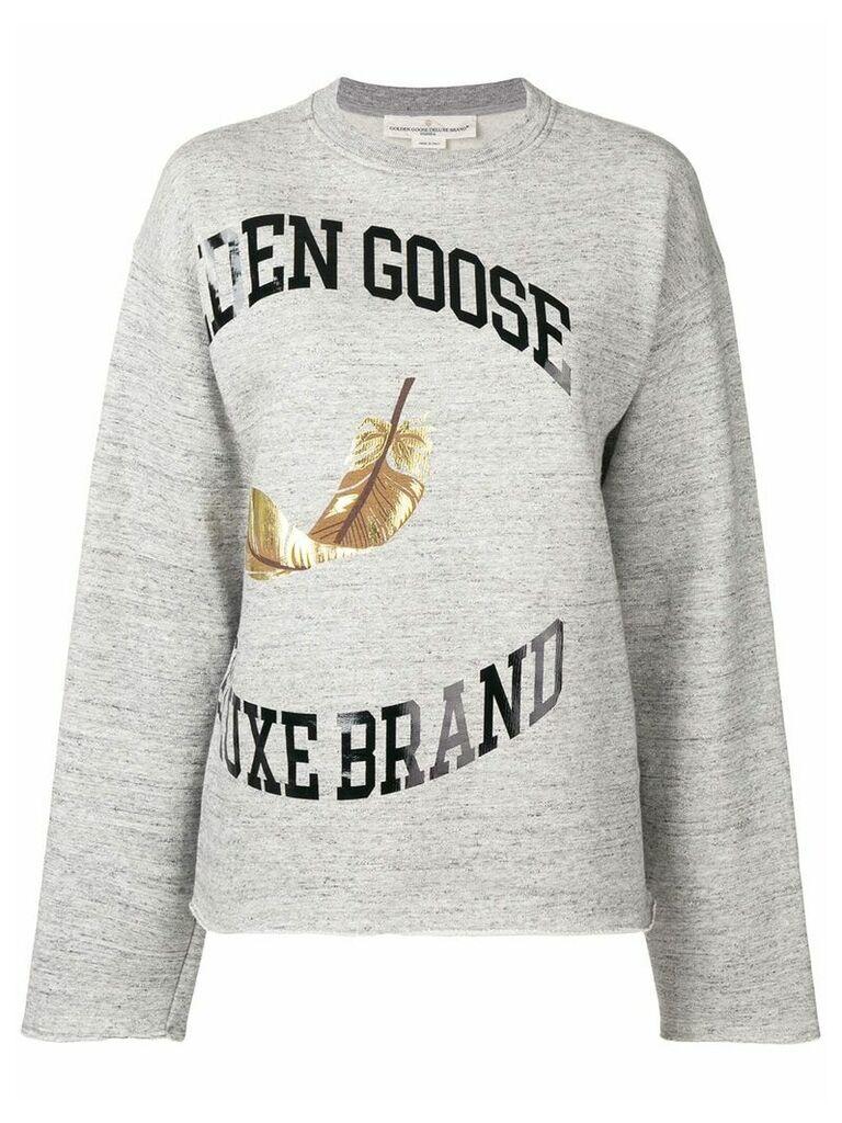 Golden Goose logo print sweater - Grey