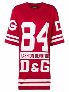Dolce & Gabbana oversized basketball T-shirt - Red