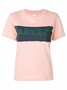 Carven logo panel T-shirt - Pink