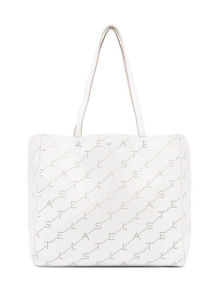 Stella McCartney White small logo tote bag