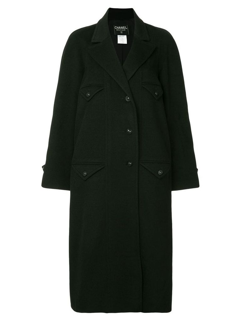 Chanel Vintage four pocket coat - Black