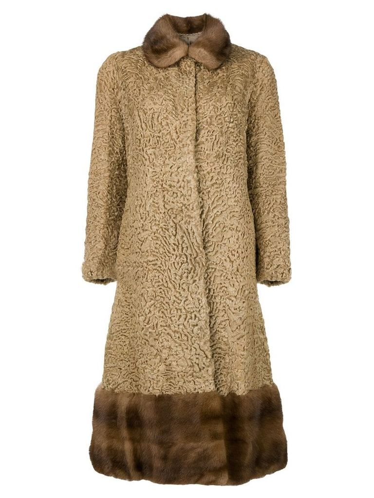 A.N.G.E.L.O. Vintage Cult mid-length flared coat - Brown