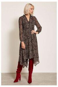 Womens Mint Velvet Animal Midi Dress -  Animal