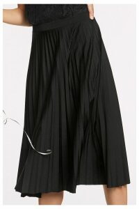 Womens Next Black Pleat Skirt -  Black