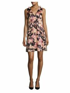 Sleeveless Devore Mini Dress