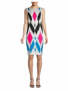 Sultana Printed Silk-Blend Sheath Dress