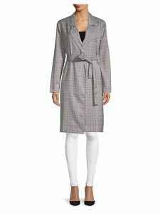 Charlee Plaid Trench Coat