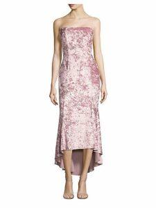 Winslow Crushed Velvet High-Low Dress