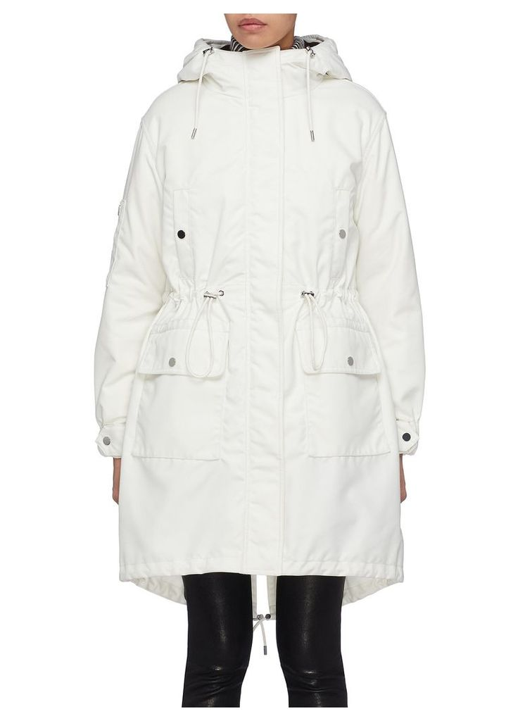 Detachable down puffer jacket hooded parka