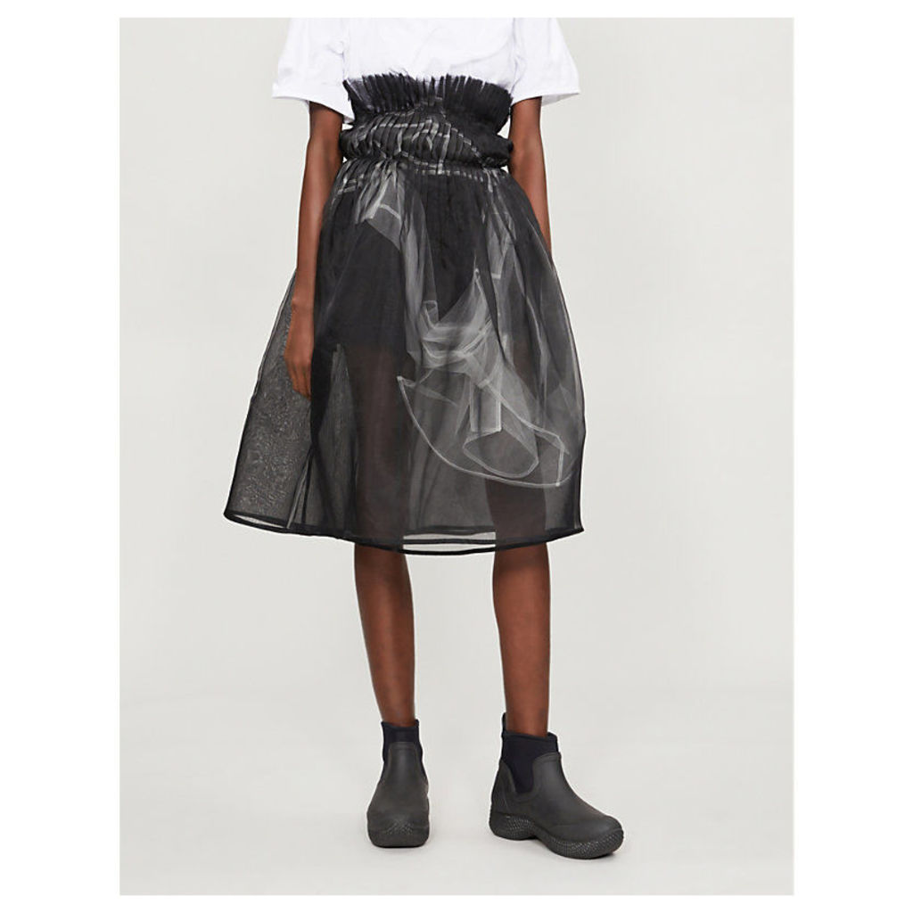 Layered silk-organza and tulle skirt