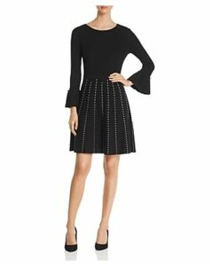 Design History Contrast-Stitch Fit-and-Flare Dress
