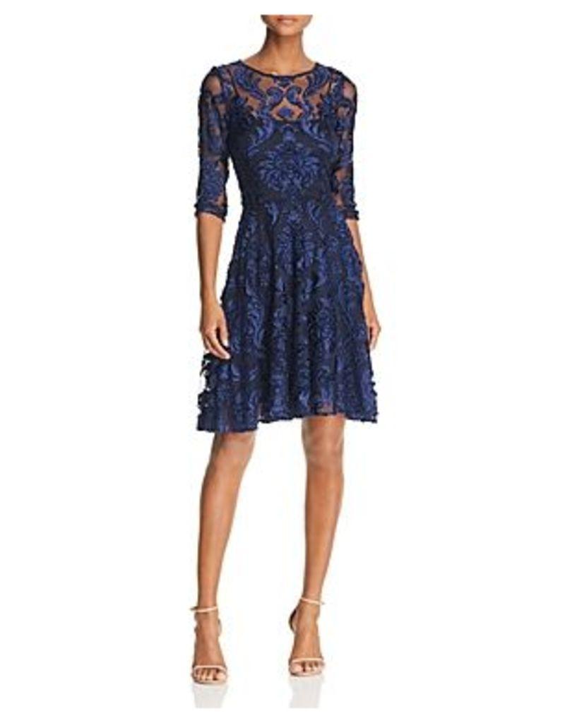 Avery G Velvet Burnout Dress