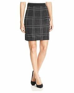 Misook Plaid Knit Pencil Skirt