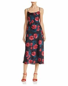 Paige Giovanna Floral Satin Dress