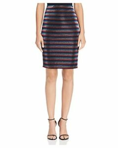 Aqua Metallic Rainbow-Stripe Pencil Skirt - 100% Exclusive