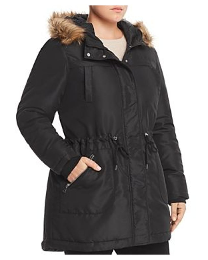 Junarose Plus Faux-Fur-Trim Puffer Coat