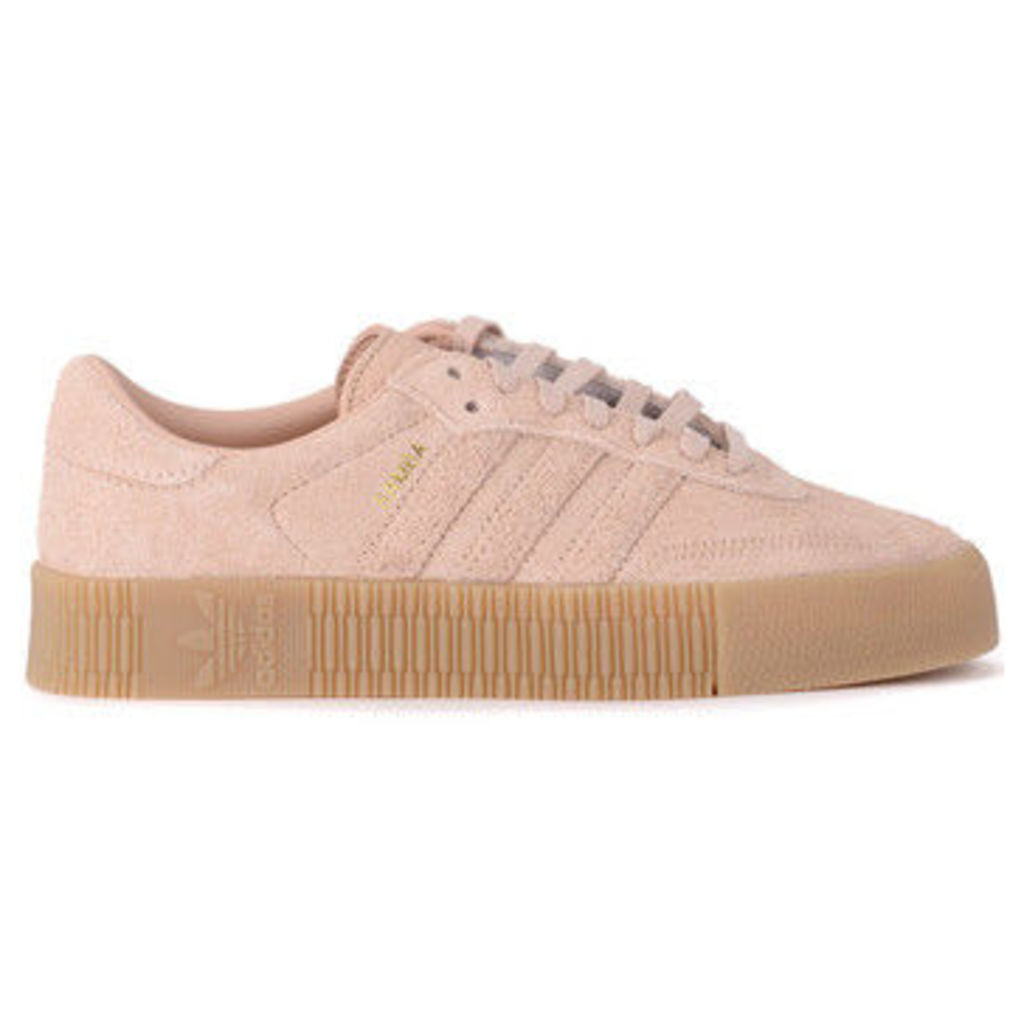 adidas  Sambarose pink velvet suede snaker  women's Shoes (Trainers) in Pink