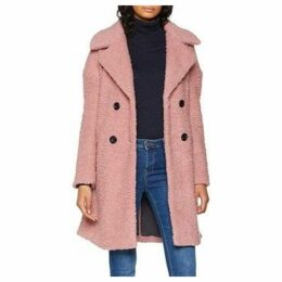 Only  ABRIGO  onlPALOMA BOUCLE LONG WOOL COAT OTW  women's Coat in Pink
