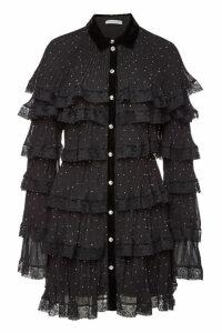 Philosophy di Lorenzo Serafini Pleated Mini Dress with Lace