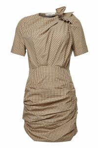 Isabel Marant toile Oria Gingham Ruffled Cotton Dress